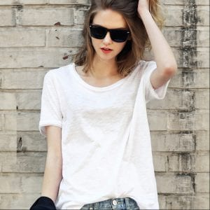 summer-white-loose-cotton-casual-t-shirt-o-neck-t-shirt-women-solid-short-sleeve-tops